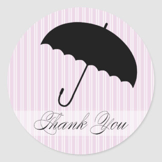 Shower Thank You Purple Umbrella Sticker