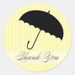 Shower Thank You Yellow Umbrella Sticker