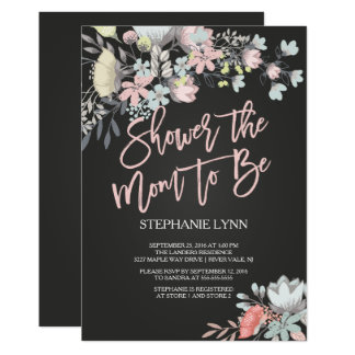 Shower the Mom to Be Floral Baby Shower Invite