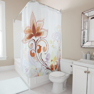 Shower with flowers Art Curtain
