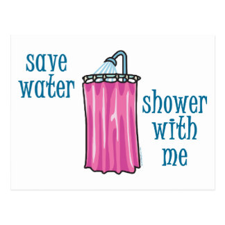 Shower with Me - Save Water Postcard