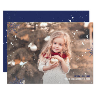 Showered with Blessings Photo Christmas Card
