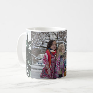 Showered with Blessings Photo with Snow Overlay Coffee Mug