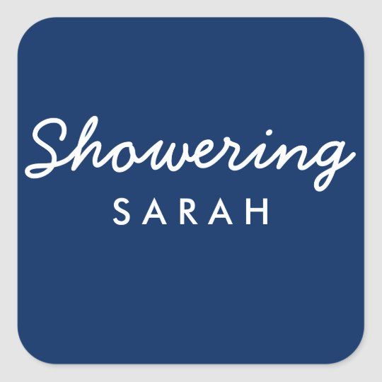 Showering Mum-To-Be Baby Shower Mason Jar Sticker
