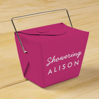 Showering the Mom-To-Be Tent Favor Box- Pink White Wedding Favour Box