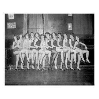 Showgirls, 1925. Vintage Photo Poster