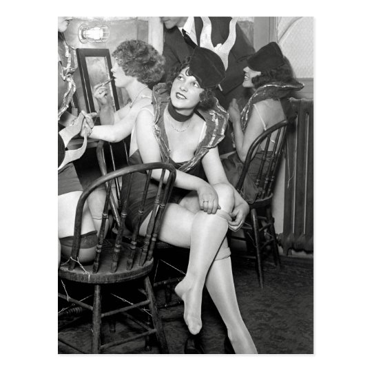 Showgirls Backstage, 1926 Postcard