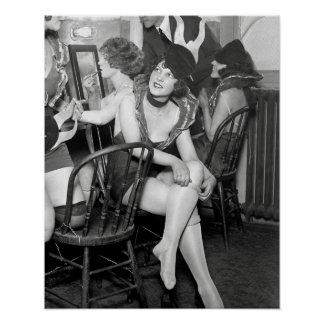 Showgirls Backstage, 1926. Vintage Photo Poster