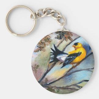 Showing Off Bird Keychain
