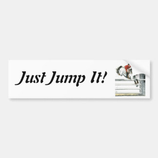 Showjumping Grey Horse Over Fences Bumper Sticker