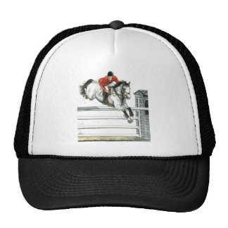 Showjumping Grey Horse Over Fences Hats