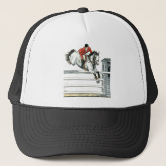 Showjumping Grey Horse Over Fences Trucker Hat