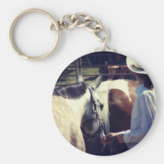 Showmanship at a Horse Show Key Chains