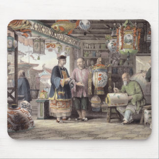 Showroom of a Lantern Merchant in Peking, from 'Ch Mouse Mat