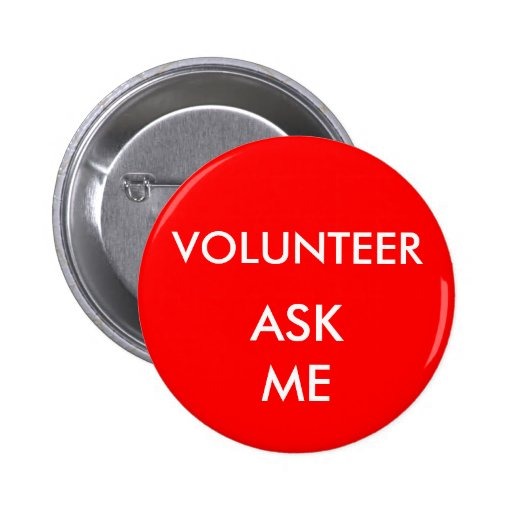 Shows and Special Events Volunteer Ask Me Badge Buttons