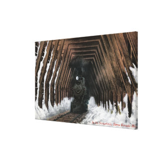 Showsheds Railroad Canvas Print