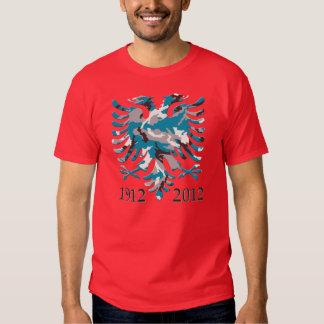 SHQIPËRIA BLUE CAMO 100 VJET PAVARËSI 1912 - 2012 TSHIRTS