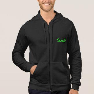 shred green logo hoodie
