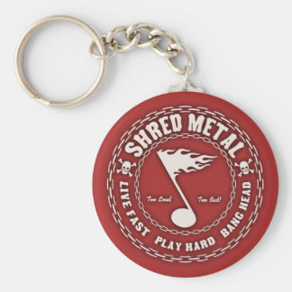 Shred Metal Basic Round Button Key Ring