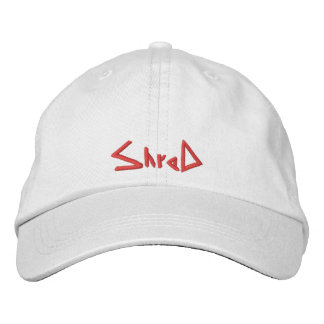 shred snowboarding hat red embroidered baseball cap