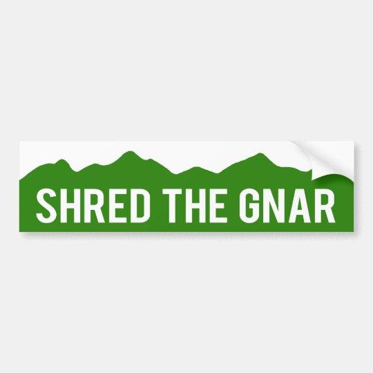 Shred The Gnar - Colorado Mountains Bumper Sticker