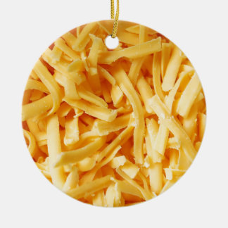 Shredded Cheddar Cheese Christmas Ornament