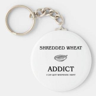 Shredded Wheat Addict Basic Round Button Key Ring