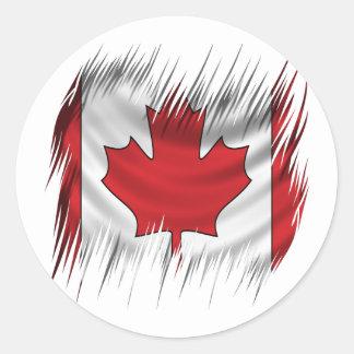 Shredders Canadian Flag Classic Round Sticker