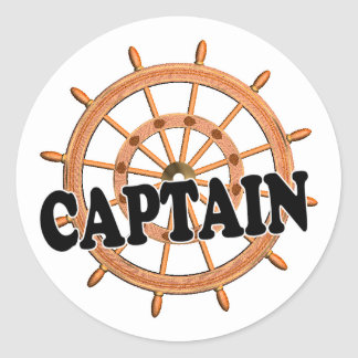 Shredders Captain Classic Round Sticker