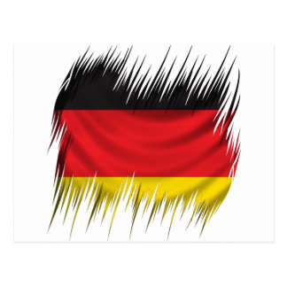 Shredders German Flag Postcard