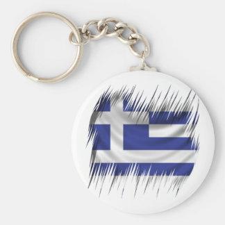 Shredders Greek Flag Basic Round Button Key Ring