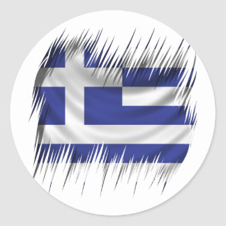 Shredders Greek Flag Classic Round Sticker