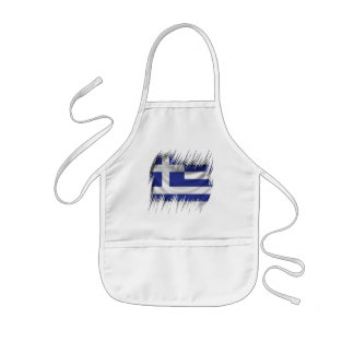 Shredders Greek Flag Kids Apron