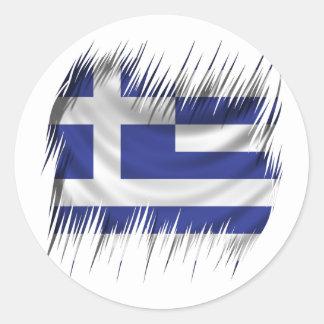 Shredders Greek Flag Sticker