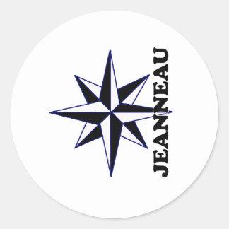Shredders Jeanneau Classic Round Sticker