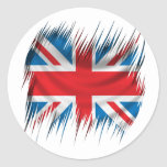 Shredders Union Jack Flag Classic Round Sticker
