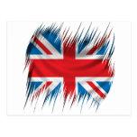Shredders Union Jack Flag Postcard