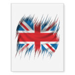Shredders Union Jack Flag Temporary Tattoos