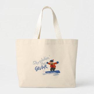 Shreddin The Gnar Jumbo Tote Bag