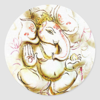 Shree Ganesh Round Sticker