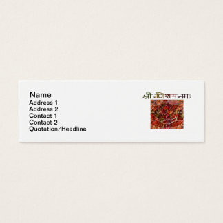 "Shree Ganeshay Nama Skinny 3""x1"" Business Card"