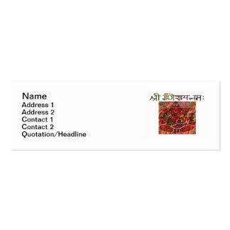 "Shree Ganeshay Nama Skinny 3""x1"" Business Card"