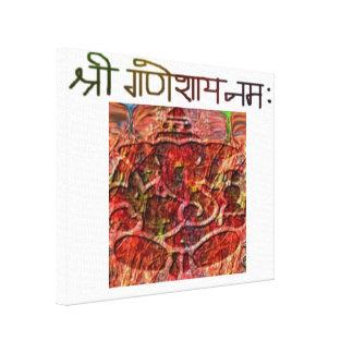 Shree Ganeshay Nama Stretched Canvas Print