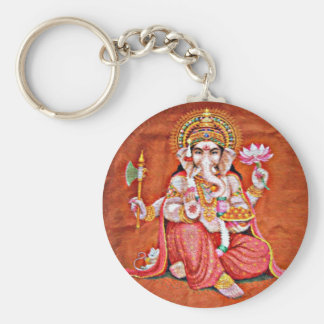 Shree Ganeshya Basic Round Button Key Ring