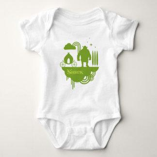 Shrek Fairy Tale Silhouette Baby Bodysuit