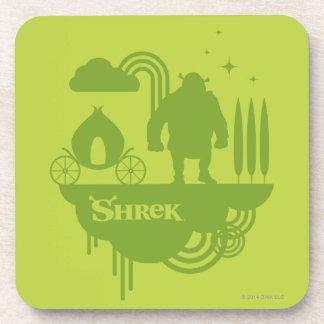 Shrek Fairy Tale Silhouette Coaster
