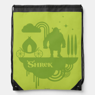 Shrek Fairy Tale Silhouette Drawstring Bag