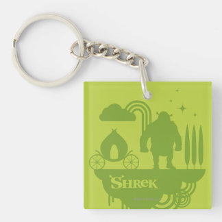 Shrek Fairy Tale Silhouette Key Ring