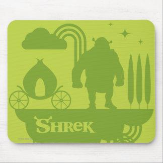 Shrek Fairy Tale Silhouette Mouse Mat