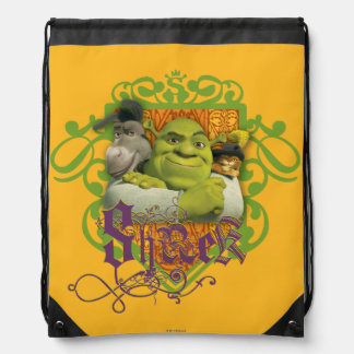 Shrek Group Crest Drawstring Bag